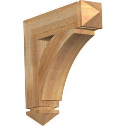 Thorton Arts & Crafts Rustic Timber Wood Bracket