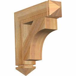 westlake Arts & Crafts Rustic Timber Wood Bracket