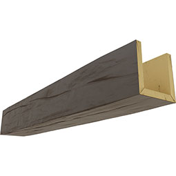 3-Sided (U-beam) Riverwood Endurathane Faux Wood Ceiling Beam