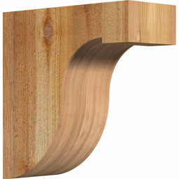 Del Monte Rustic Timber Wood Corbel