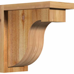 Del Monte Rustic Timber Wood Corbel w/Backplate