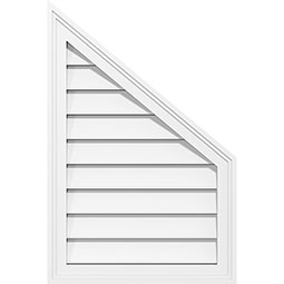 Half Peaked Top Right Surface Mount PVC Gable Vent Brickmould Frame
