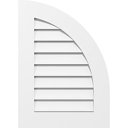 Quarter Round Top Right Surface Mount PVC Gable Vent Standard Frame