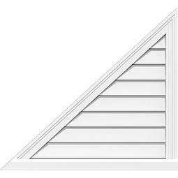 Right Triangle Left Side Surface Mount PVC Gable Vent Brickmould Sill Frame