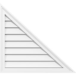 Right Triangle Right Side Surface Mount PVC Gable Vent Brickmould Frame