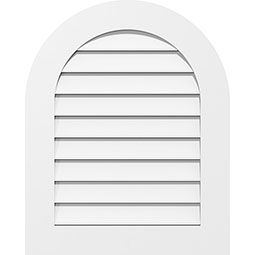 Round Top Surface Mount PVC Gable Vent Standard Frame