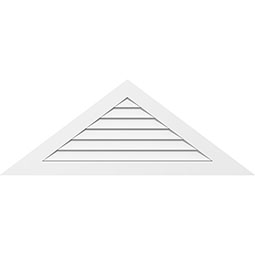 Triangle Surface Mount PVC Gable Vent Standard Frame