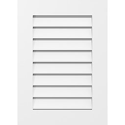 Vertical Surface Mount PVC Gable Vent Standard Frame