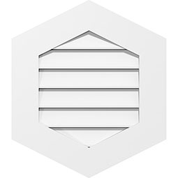 Vertical Peaked Surface Mount PVC Gable Vent Standard Frame