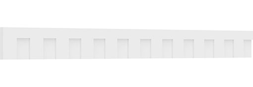 Fayetteville Architectural Grade PVC Dentil Trim w/Backplate