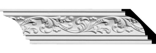 MLD02X02X04TN Ornate Crown Moulding