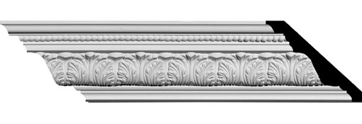 MLD03X04X06PA Ornate Crown Moulding