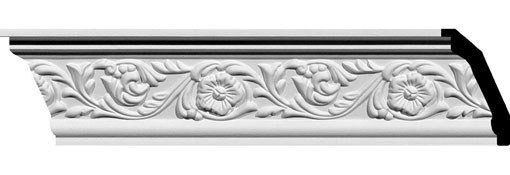 MLD03X02X04ME Ornate Crown Moulding