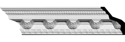 MLD03X03X05AT Ornate Crown Moulding