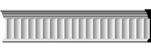 "7 3/4""H x 1""P x 94 1/2""L Elsinor Fluted Frieze"