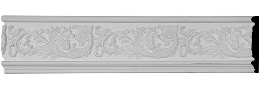 "7""H x 1""P x 94 1/2""L Tyrone Scroll & Flowers Frieze"