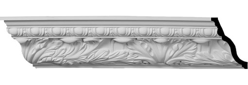 "7""H x 5""P x 8 5/8""F x 94 1/2""L Zephyr with Egg & Dart Crown Moulding"