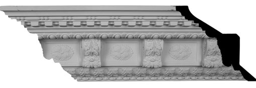 MLD09X09X14GR Large Crown Moulding - Foam Crown Moulding