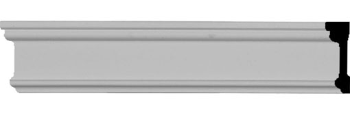 """1 3/4""""H x 1/2""""P x 94 1/2""""L Pierced Moulding Backplate, fits Pierced Moulding Heights 1"""" and under"""