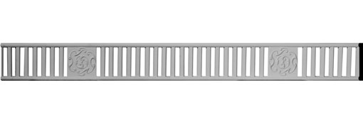 """3""""H x 3/8""""P x 94 1/2""""L with 16"""" Repeat Holmdel Pierced Moulding"""