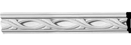 """1 3/4""""H x 1/2""""P x 94 1/2""""L Medway Pierced Moulding with Backplate"""