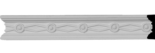 "1 1/2""H x 1/2""P x 94 1/2""L, (2"" Repeat), Federal Chair Rail"