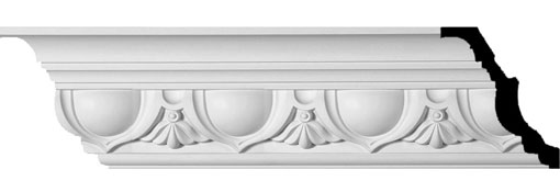 "7 3/8""H x 6 1/8""P x 9 5/8""F x 94 1/2""L, (7 3/8"" Repeat), Artis Crown Moulding"
