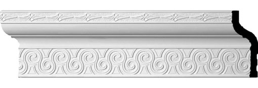 "8 3/8""H x 3 3/4""P x 9""F x 94 1/2""L, (6 7/8"" Repeat), Bedford Crown Moulding"