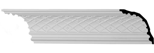 MLD06X06X08BR Ornate Crown Moulding