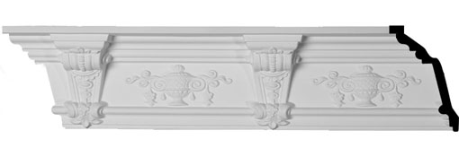 "6 5/8""H x 5 1/2""P x 8 5/8""F x 94 1/2""L Jonee Barsom Crown Moulding"