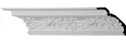 MLD06X06X09HM Traditional Crown Moulding