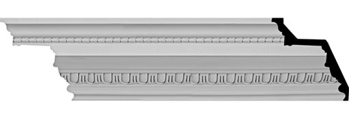 "7 3/8""H x 7 1/4""P x 10 1/4""F x 94 1/2""L, (1 1/2"" Repeat) Bedford Beaded Crown Moulding"