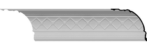 MLD18X16X24BR Large Crown Moulding - Foam Crown Moulding