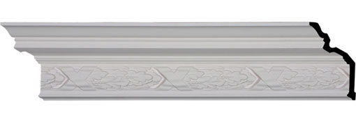 "7 1/4""H x 5 3/8""P x 8 5/8""F x 94 1/2""L, (9 5/8"" Repeat), Dublin Crown Moulding"
