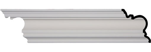 "7 1/4""H x 7 1/8""P x 9 7/8""F x 94 1/2""L, Devon Smooth Crown Moulding"