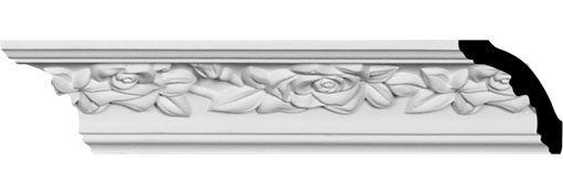 MLD01X02X02RO Crown Moulding, Cove Moulding