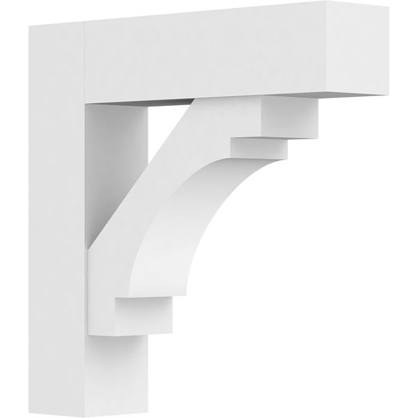 Standard Merced Architectural Grade PVC Bracket with Block Ends