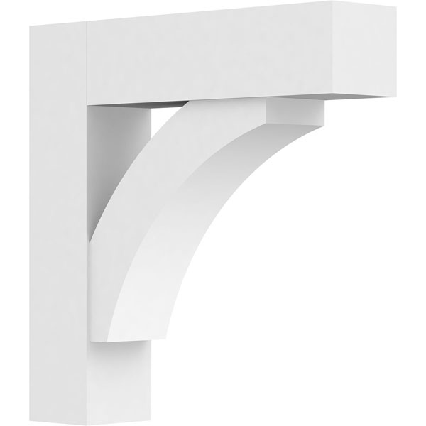 Standard Thorton Architectural Grade PVC Bracket with Block Ends