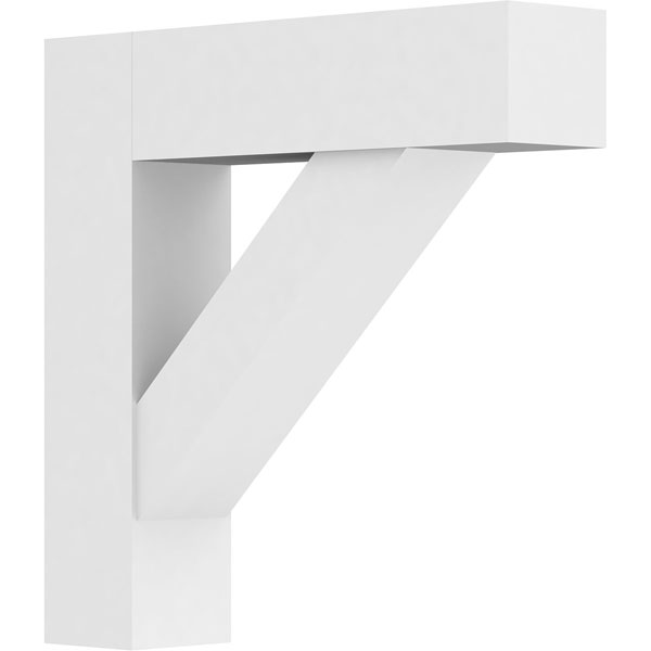 Standard Traditional Architectural Grade PVC Bracket with Block Ends