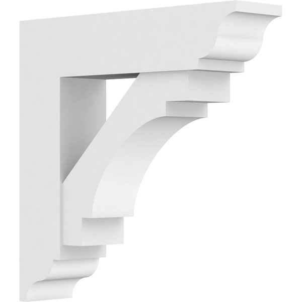 Standard Merced Architectural Grade PVC Bracket with Traditional Ends