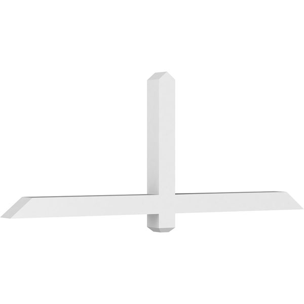 Eugene Architectural Grade PVC Gable Bracket Pediment