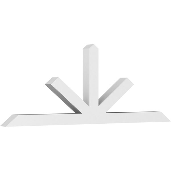 Saratoga Architectural Grade PVC Gable Bracket Pediment