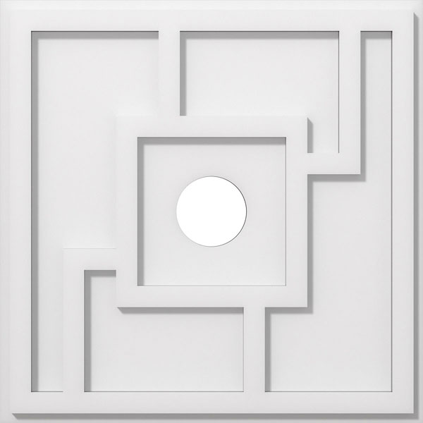 Knox Architectural Grade PVC Contemporary Ceiling Medallion
