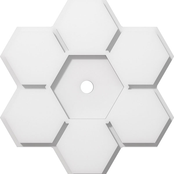 Ekena Millwork Cmp14dy 01000 14 Od X 1 Id 4 3 C P Daisy Architectural Grade Pvc Contemporary Ceiling Medallion