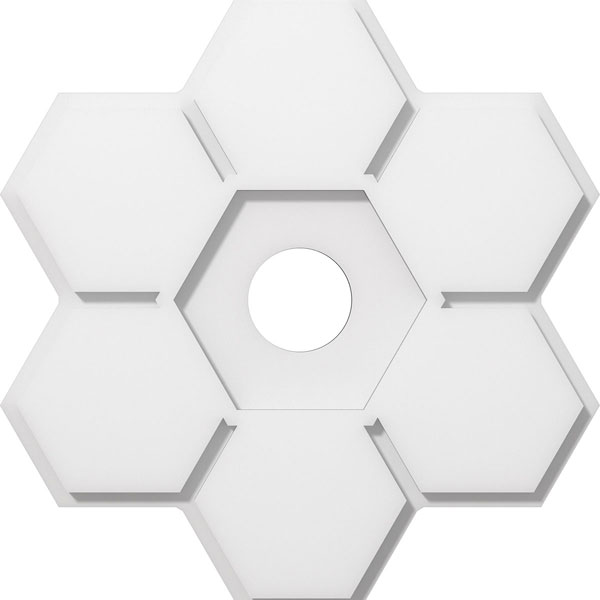Daisy Architectural Grade PVC Contemporary Ceiling Medallion