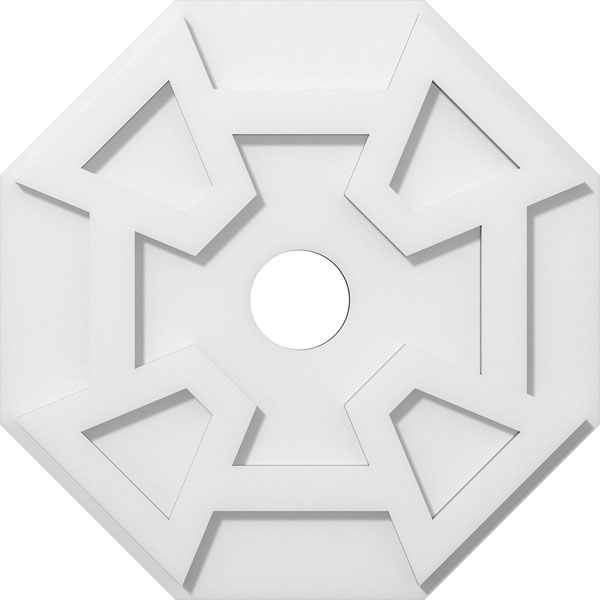 Logan Architectural Grade PVC Contemporary Ceiling Medallion