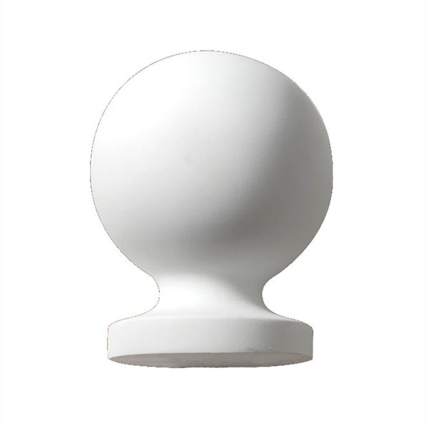 "8 3/8""W x 12 7/8""H Full Round Ball Finial"