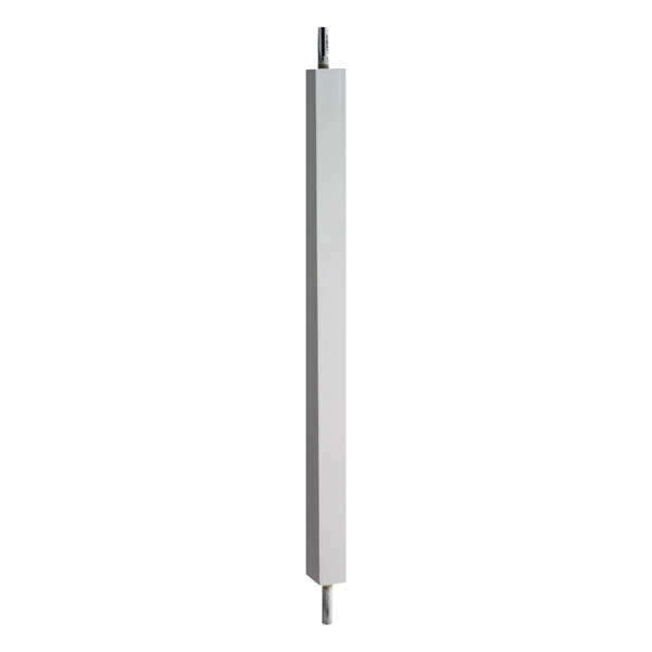 "1 3/4""W x 20""H Square Baluster, 5 11/16"" On Center Spacing For 4"" Sphere Code"