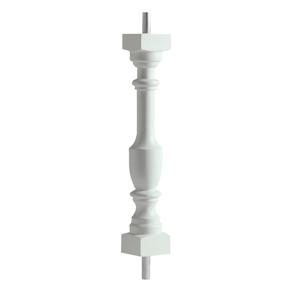 "3""W x 24""H Logan Baluster, 5 7/16"" On Center Spacing For 4"" Sphere Code"