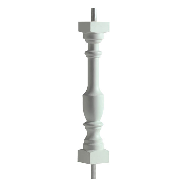 "3""W x 28""H Logan Baluster, 5 7/16"" On Center Spacing For 4"" Sphere Code"